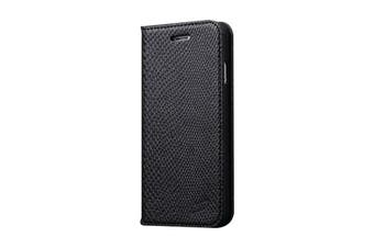 For iPhone 8 PLUS 7 PLUS Wallet Case Fashion Snake Pattern Leather Cover Black