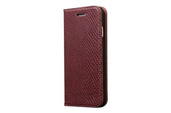 For iPhone 8 PLUS,7 PLUS Wallet Case,Fashion Snake Pattern Leather Cover,Brown