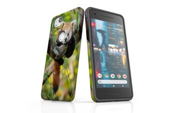 For Google Pixel 2 Case, Protective Back Cover, Red Panda