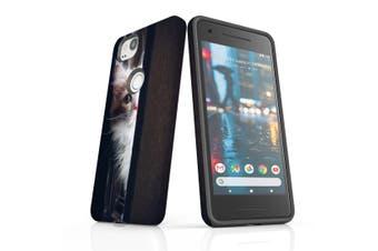 For Google Pixel 2 Case, Protective Back Cover, Peeking Kitten