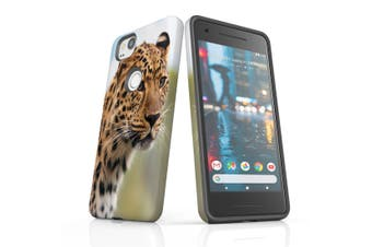 For Google Pixel 2 Case, Protective Back Cover, Preying Cheetah