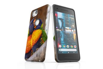 For Google Pixel 2 Case, Protective Back Cover, Lorikeet Couple