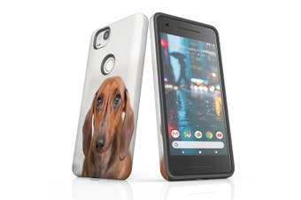 For Google Pixel 2 Case, Protective Back Cover, Red Dachshund