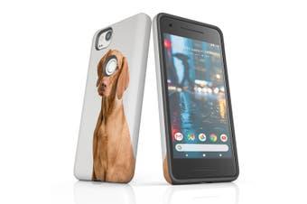 For Google Pixel 2 Case, Protective Back Cover, Vizsla Portrait