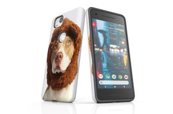 For Google Pixel 2 Case, Protective Back Cover, The Staffy Bear