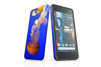 For Google Pixel 2 Case, Protective Back Cover, Jellyfish Duo