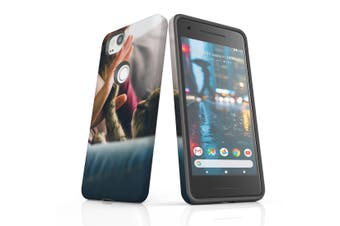 For Google Pixel 2 Case, Protective Back Cover, Cat High Five