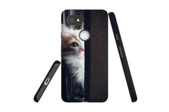 For Google Pixel 2 XL Case, Protective Back Cover, Peeking Kitten