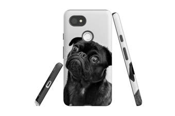For Google Pixel 2 XL Case, Protective Back Cover, Curious Pug