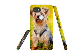 For Google Pixel 2 XL Case, Protective Back Cover, Yorkie