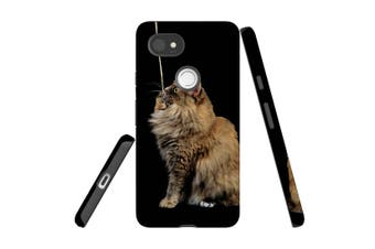 For Google Pixel 2 XL Case, Protective Back Cover, Playing Maine Coon