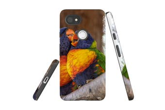 For Google Pixel 2 XL Case, Protective Back Cover, Lorikeet Couple