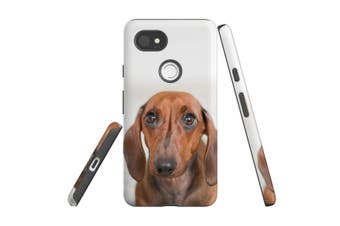 For Google Pixel 2 XL Case, Protective Back Cover, Red Dachshund