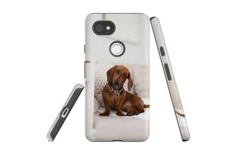 For Google Pixel 2 XL Case, Protective Back Cover, Laying Red Dachshund