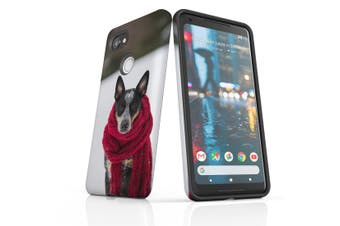 For Google Pixel 2 XL Case, Protective Back Cover, A Cold Day for the Dog