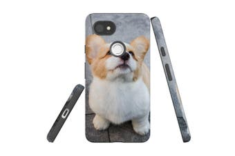 For Google Pixel 2 XL Case, Protective Back Cover, Corgi Pup