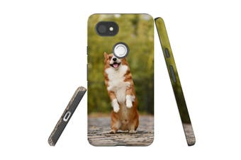 For Google Pixel 2 XL Case, Protective Back Cover, Standing Corgi