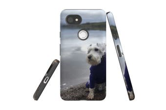For Google Pixel 2 XL Case, Protective Back Cover, Serene Schnauzer