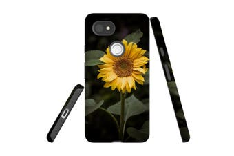 For Google Pixel 2 XL Case, Protective Back Cover, Yellow Sunflower