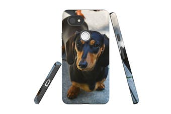 For Google Pixel 2 XL Case, Armour Back Cover, Black & Tan Dachshund