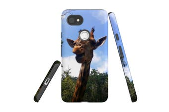 For Google Pixel 2 XL Case, Armour Back Cover, Curious Giraffe