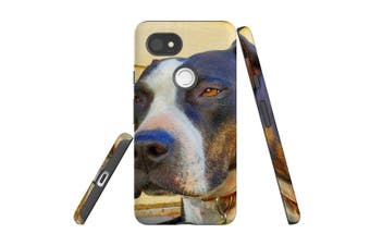 For Google Pixel 2 XL Case, Armour Back Cover, Sceptical Staffy