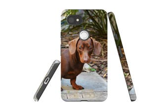 For Google Pixel 2 XL Case, Armour Back Cover, Tan Daschund