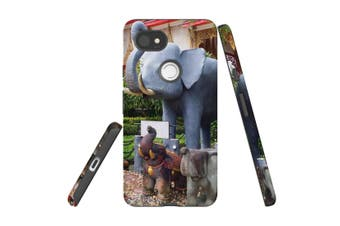 For Google Pixel 2 XL Case, Armour Back Cover, Elephant Statues