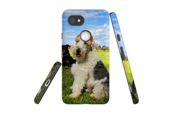 For Google Pixel 2 XL Case, Armour Back Cover, Dogs Fun at the Park