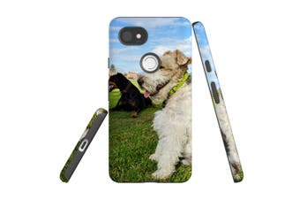 For Google Pixel 2 XL Case, Armour Back Cover, Dogs at the Park