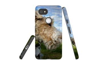 For Google Pixel 2 XL Case, Armour Back Cover, Focused Wire Haired Fox Terrier