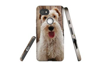 For Google Pixel 2 XL Case, Armour Back Cover, Tongued Out Wire Haired Foxy