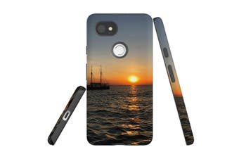 For Google Pixel 2 XL Case, Armour Back Cover, Sailing Sunset