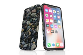 For iPhone 11 Pro Max Shielding Case  River Stone Texture