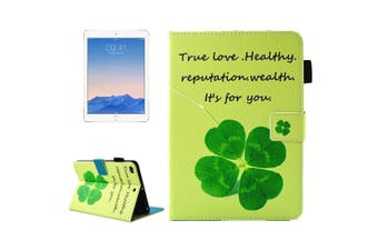 For iPad 2018 2017 Wallet Case 4 Leaf Clover Smart Protective Leather Cover