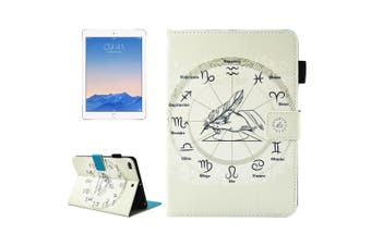 For iPad 2018,2017 Wallet Case,Roman Horoscope Smart Protective Leather Cover