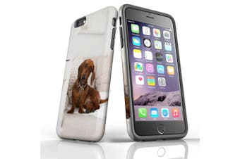 For iPhone 6S Plus Case, Protective Back Cover, Laying Red Dachshund