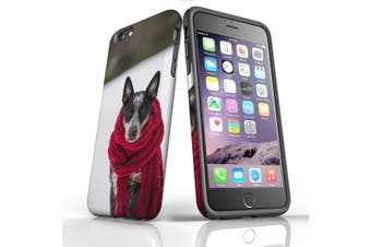 For iPhone 6S Plus Case, Protective Back Cover, A Cold Day for the Dog