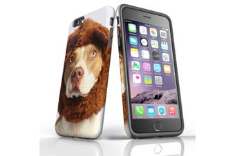 For iPhone 6S Plus Case, Protective Back Cover, The Staffy Bear