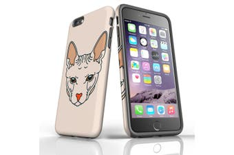 For iPhone 6S Plus Case, Protective Back Cover, Sphinx Cat Portrait