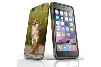 For iPhone 6S Plus Case, Protective Back Cover, Standing Corgi