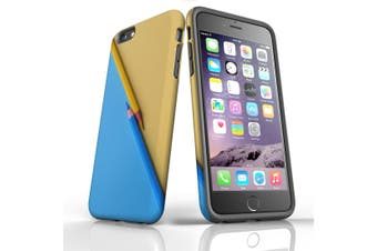 For iPhone 6S Plus Case, Protective Back Cover, Blue or Yellow