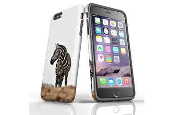 For iPhone 6S Plus Case, Protective Back Cover, Zebra