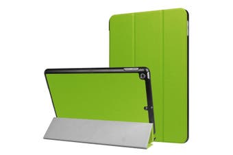 For iPad 2018,2017 9.7in Case,Stylish Karst Textured 3-fold Leather Cover,Green