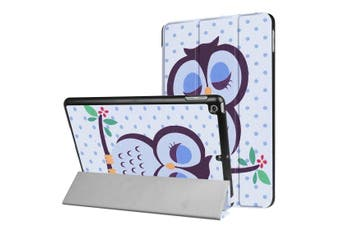 For iPad 2018,2017 9.7in Case,Sleepy Owl Durable Protective 3-fold Leather Cover
