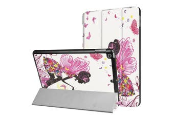 For iPad 2018,2017 9.7in Case,Butterfly Fairy Protective 3-fold Leather Cover