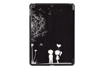 For iPad 2018 2017 9.7in Case Cute Dandelion Couple Durable 3-fold Leather Cover