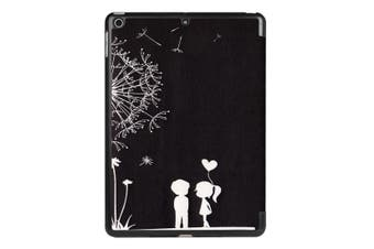 For iPad 2018,2017 9.7in Case,Cute Dandelion Couple Durable 3-fold Leather Cover