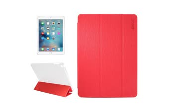 For iPad 2018,2017 9.7in Case,Toothpick Textured Smart Durable Leather Cover,Red