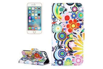 For iPhone SE (2020) / 8 / 7 Wallet Case,Colourful Fireworks Protective Leather Cover